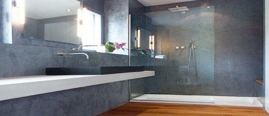 microcement bathroom