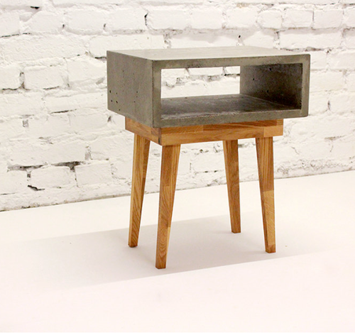 concrete night cabinet