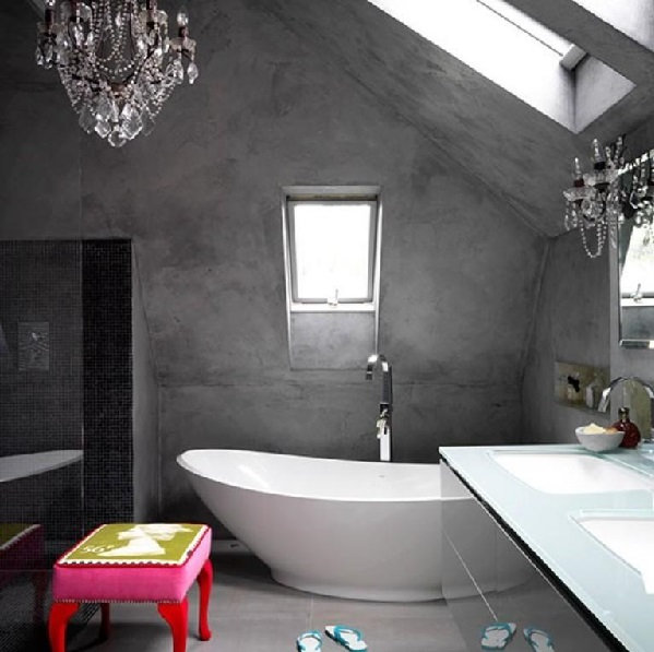 Microcement and concrete in the bathroom. A bit of luxury.