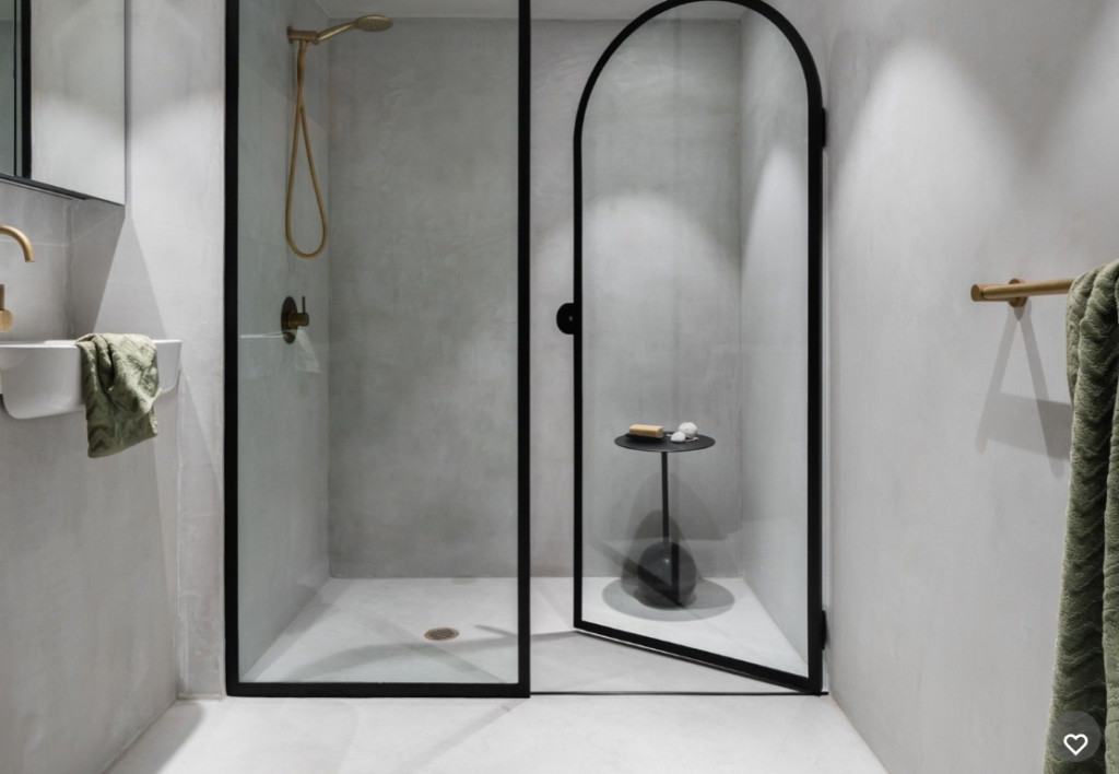 Why Using Microcement And Concrete In, Concrete Floor Bathroom Ideas