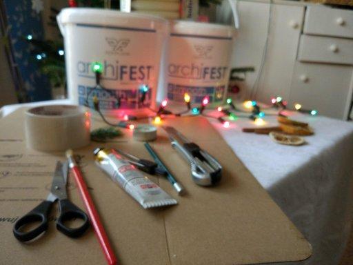 Concrete Christmas decor DIY