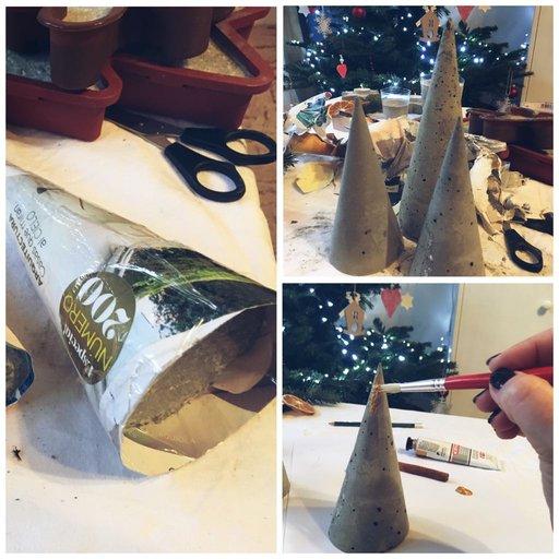 Concrete Christmas decorations DIY