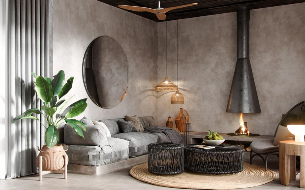 Concrete Living Room Decor Ideas Microcement And Decorative Concrete