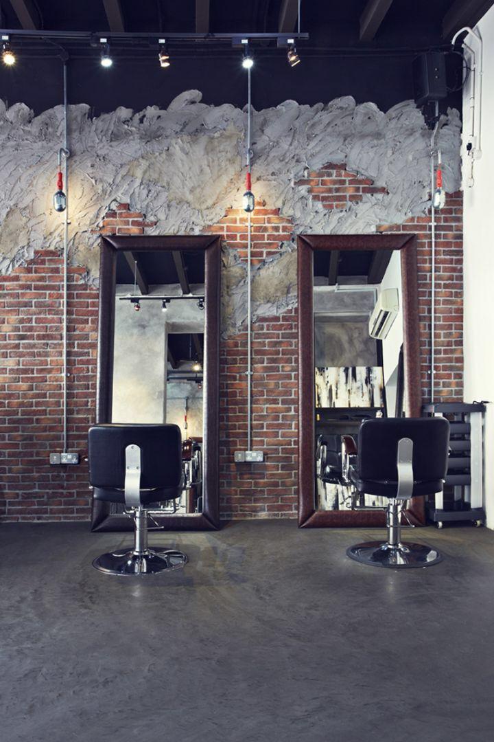 Look 4 Design Salon : Concrete and microcement in a hair salon inspiring ideas