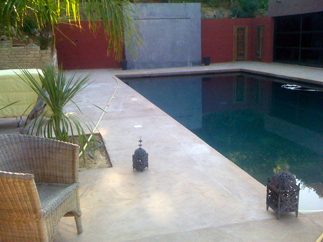 microcement pool