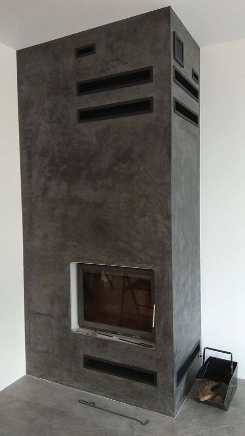 microtopping fireplace