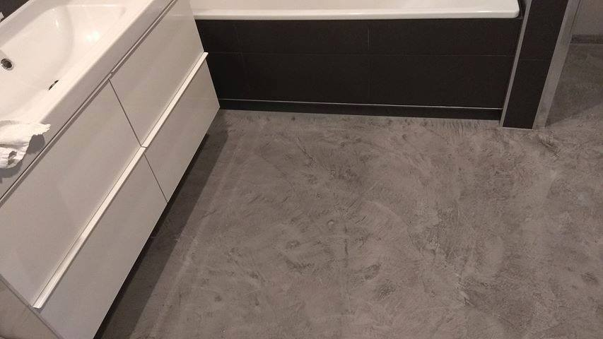 microtopping bathroom floor