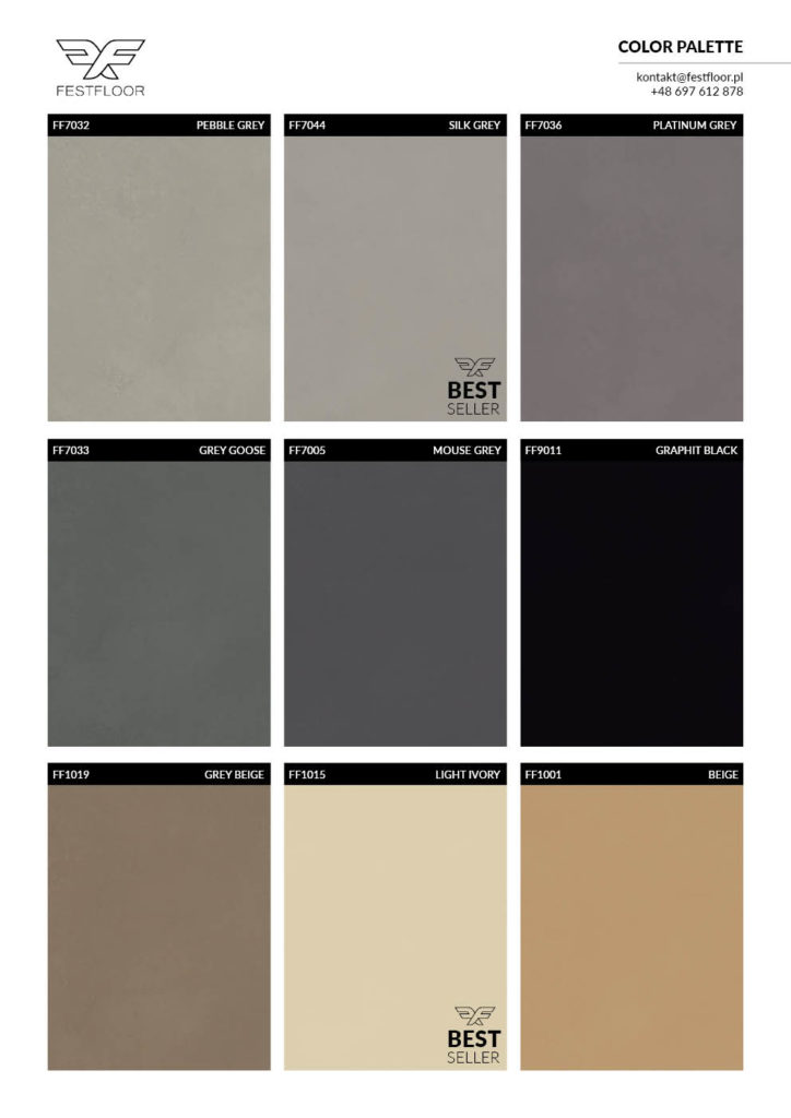 microcement color chart