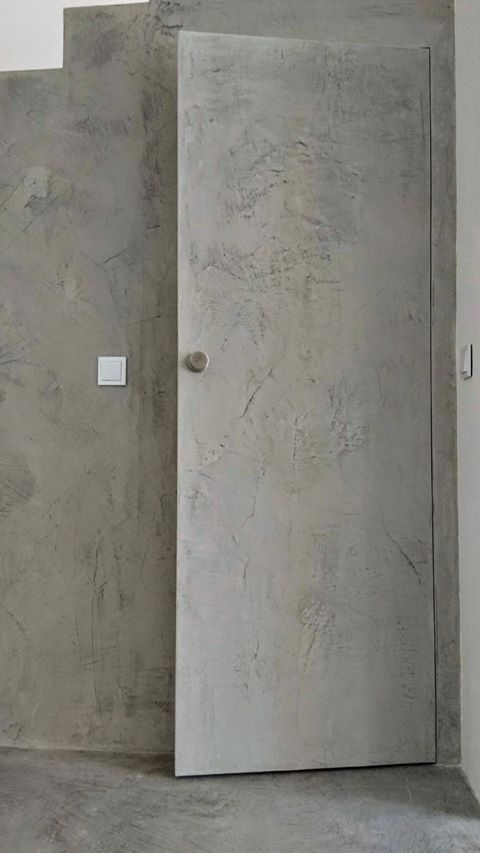 microcement door