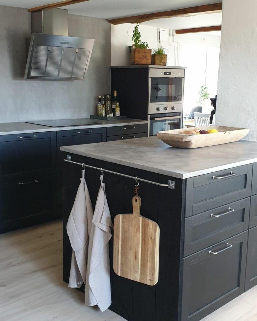 microcement kitchen worktop - Scandinavian kitchen