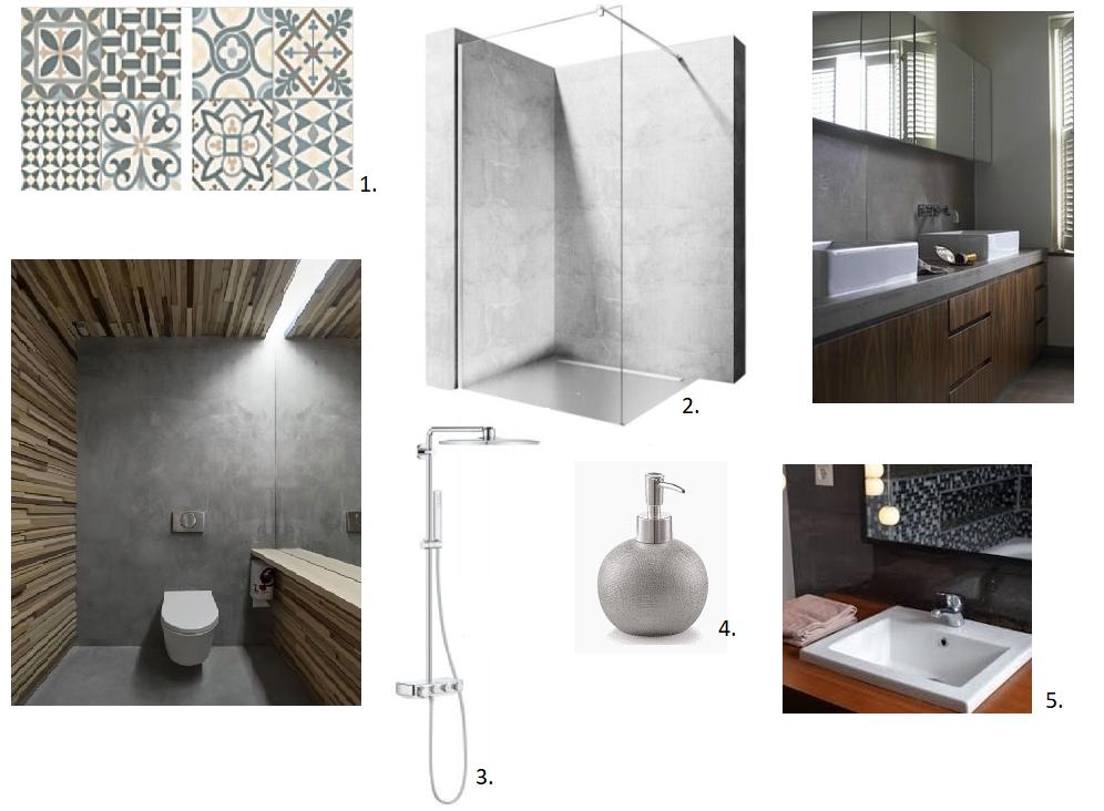 Concrete interiors - moodboard