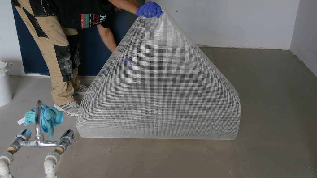 substrate reinforcement - bonding bridge and fiberglass mesh