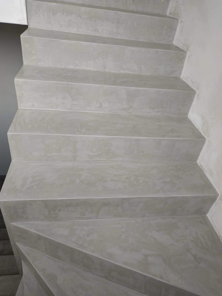 Microcement stairs
