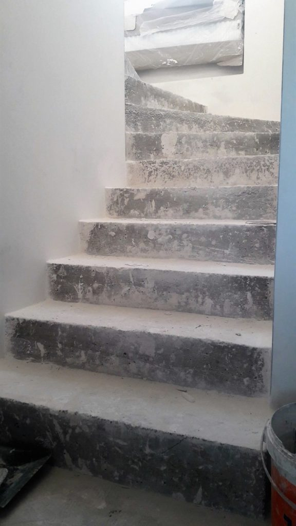 Microcement stairs - contractor guide