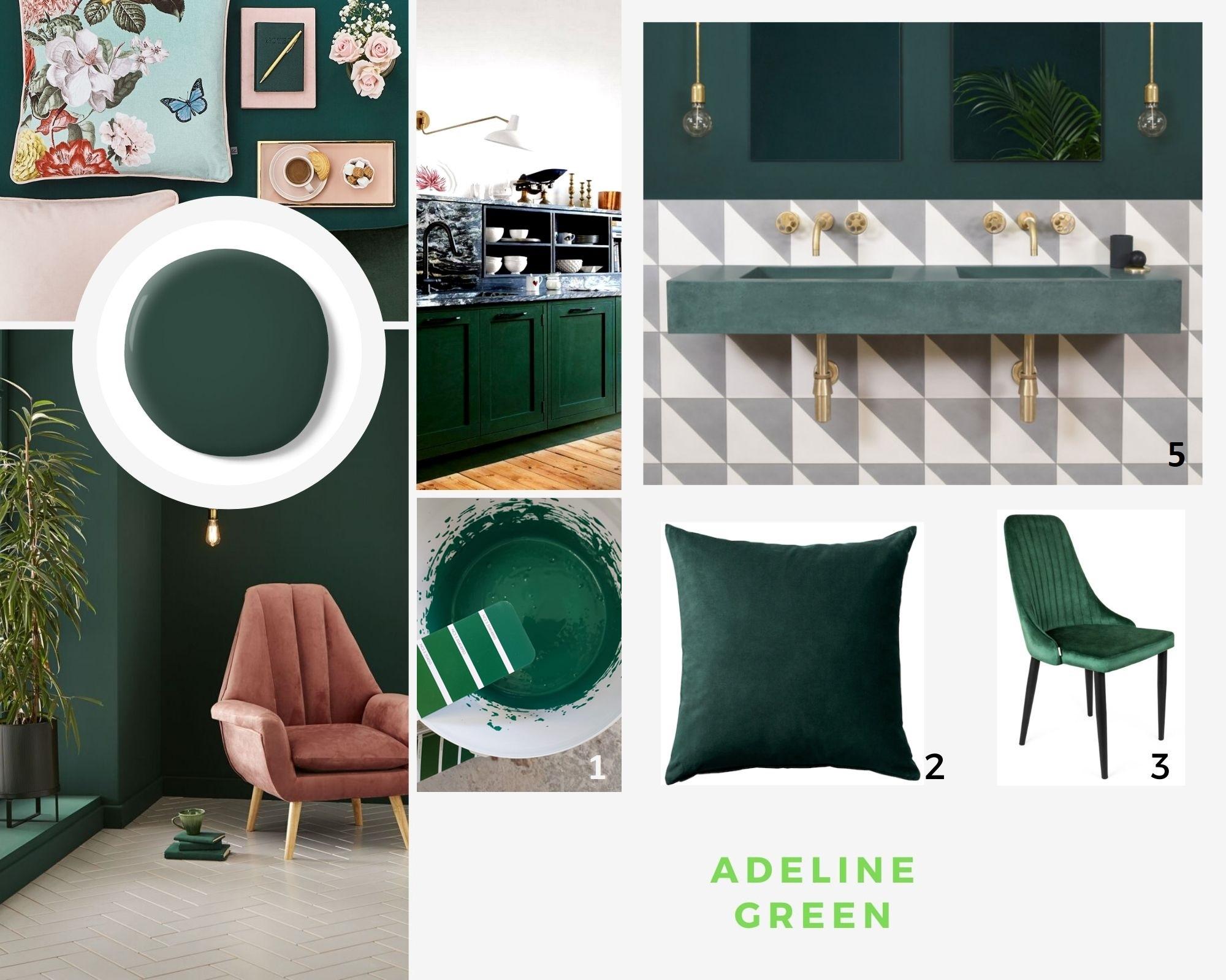 Trendy 2020: adeline - zielony kolorowy mikrobeton