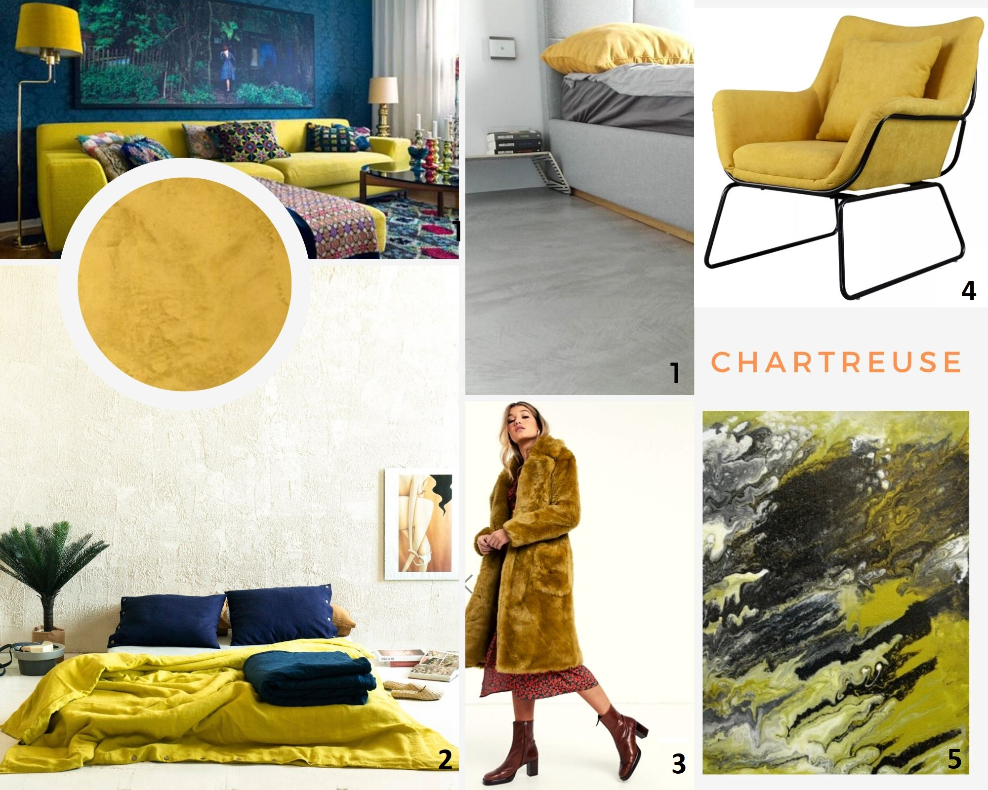 Trendy 2020: chartreuse - kolorowy mikrocement