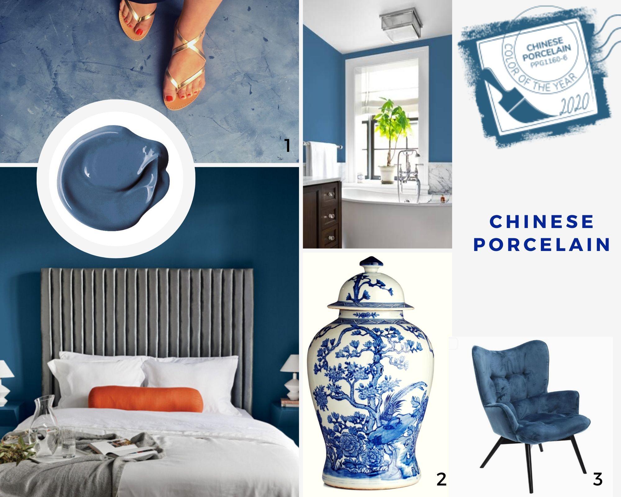 Najmodniejsze kolory 2020: chinese porcelain - niebieski mikrocement kolory