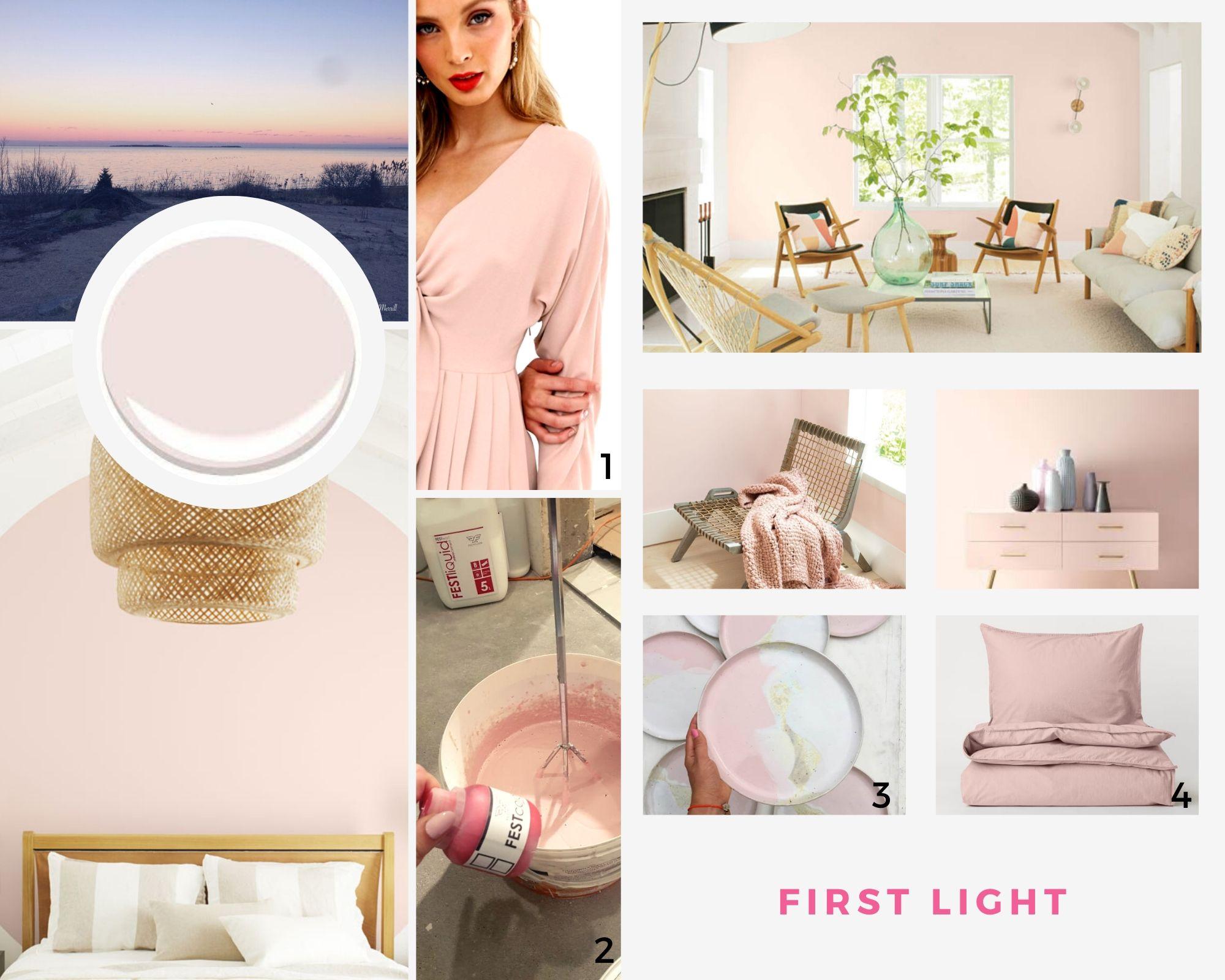 Trendy 2020: first light - różowy mikrocement kolor