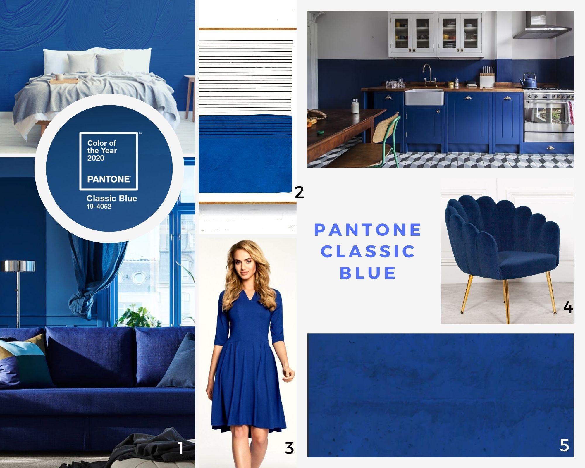 Najmodniejsze kolory 2020: classic blue pantone - kolorowy mikrocement