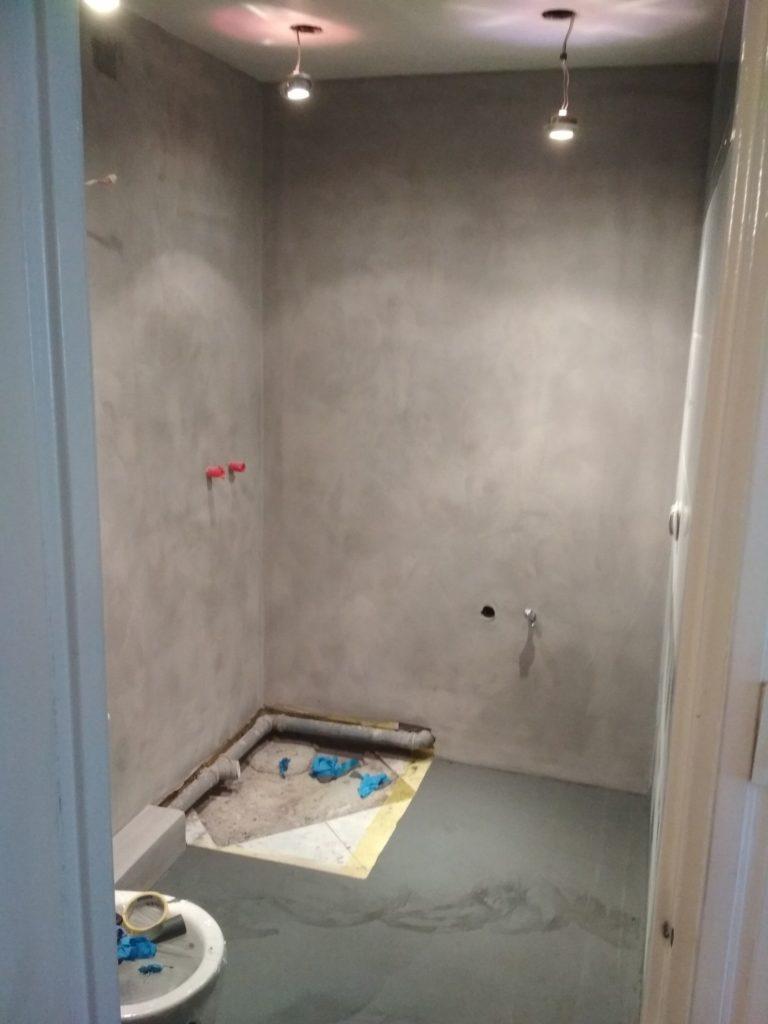 bathroom renovation using microcement