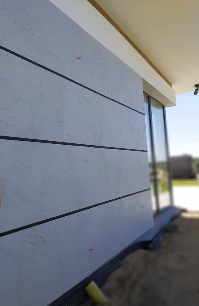 Microcement facade