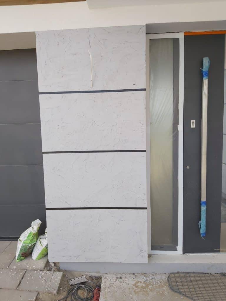 beton cire wall outside