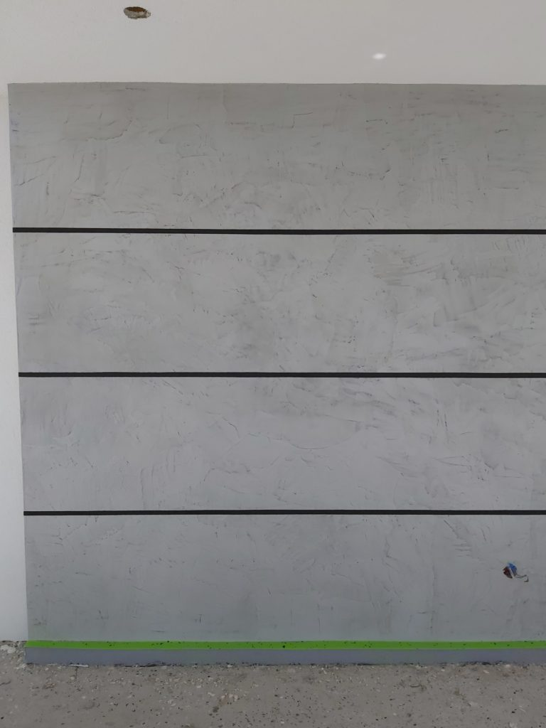 microcement wall outdoors