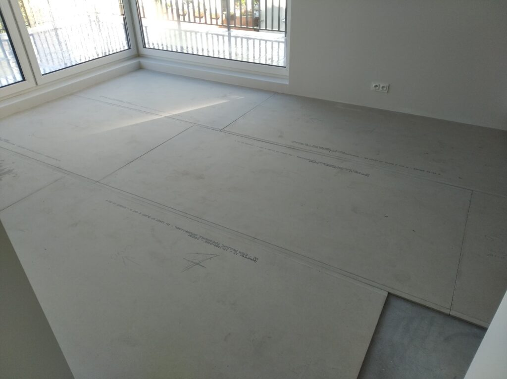 Microcement on cement boards