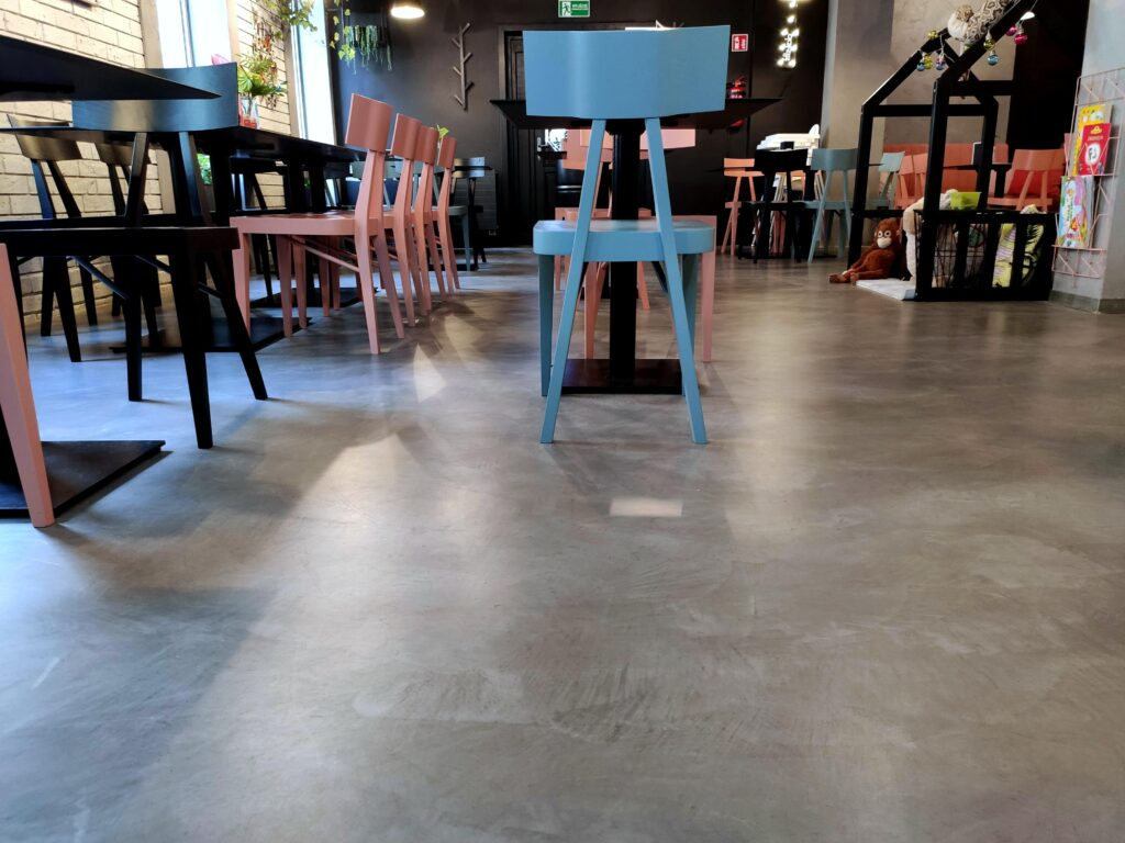 Microcement in a restaurant photos