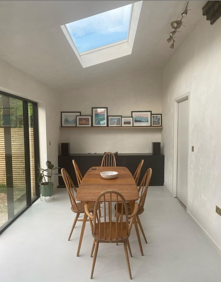 renovating an old London house with microcement