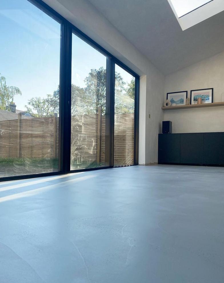 London house renovation using microcement